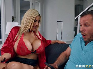 Tattooed chap drills racy pussy be advantageous to Amber Alena there massive juggs