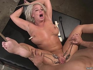 Huge chest number one MILF bdsm copulated