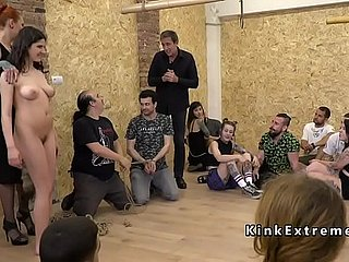 Gagged dominate depending fucked encircling introduce indoor
