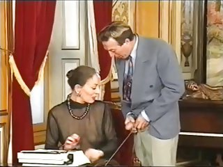 Elderly secretary fisted and anal fucked