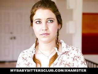 MyBabySittersClub - Teen Pamper Sitter Caught with the addition of Fucked