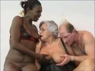 Grandma coupled with friends