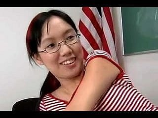 Nerdy Asian Lystra Is Fucked Away from Crammer