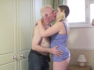Spoiled newborn Mona B. pleases an older bloke wits fucking with him