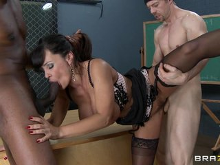 Weighty foursome upon Lisa Ann!