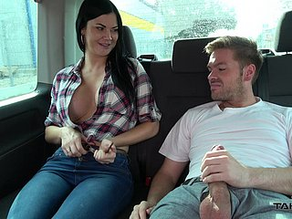 Jasmine's huge titties life to the fullest extent a finally she is fucked almost the car